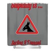 Surfing Bigstock  Donkey 171252860 Shower Curtain