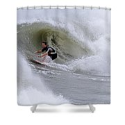 Surfing Bogue Banks 1 Shower Curtain
