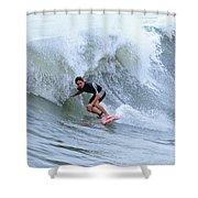 Surfing Bogue Banks 3 Shower Curtain