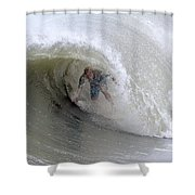 Surfing Bogue Banks 4 Shower Curtain