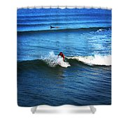 Surfing Boy  Shower Curtain