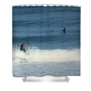 Surfing Carmel Beach Two Shower Curtain