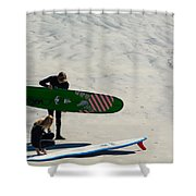 Surfing Couple Shower Curtain