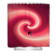 Surfing In The Sunset Two Shower Curtain