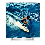 Surfing Legends 12 Shower Curtain