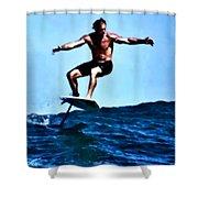 Surfing Legends 5 Shower Curtain