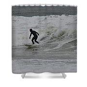 Surfing, N. Hampton Nh Shower Curtain