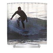 Surfing Narragansett Shower Curtain
