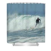 Surfing On The Oregon Coast Shower Curtain