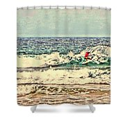 People On The Wave Shower Curtain