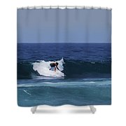 Surfing The Waves Shower Curtain