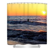 Surf's Up Grand Bend Shower Curtain