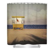 Surf's Up W Textures Shower Curtain