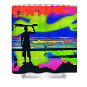 Surfscape Dreaming Shower Curtain