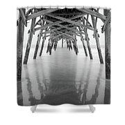Surfside Pier Exposure Shower Curtain