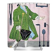 Surgeon, 18th Century Shower Curtain