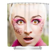 Surprised Face Shower Curtain