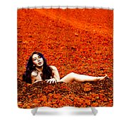 Surprised Martian Hatching Shower Curtain