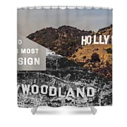 Surprising Facts Of Hollywood Sign Shower Curtain