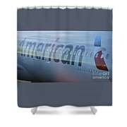 Surreal American Airlines Airbus Shower Curtain
