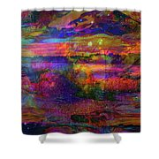 Surreal Angry Cloud Shower Curtain