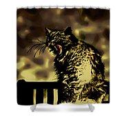 Surreal Cat Yawn Shower Curtain