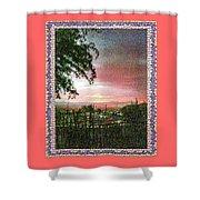 Surreal Desert Sunset Shower Curtain