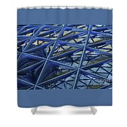 Surreal Dome Glass Shower Curtain