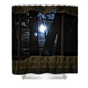 Surreal Double Moon Shower Curtain