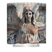 Surreal Fantasy Dreamy Angel Art Wings Shower Curtain