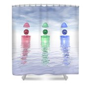 Surreal Glass Structures Shower Curtain
