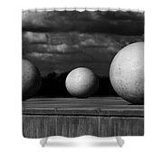 Surreal Globes Shower Curtain