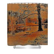 Surreal Langan Park 2 - Mobile Alabama Shower Curtain