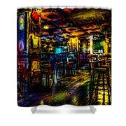 Surreal Old West Bar  Shower Curtain