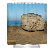 Surreal Rock At Point Loma Shower Curtain
