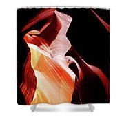 Surreal Shapes In Form And Time Shower Curtain