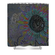 Surreal Sunflower And Bee Shower Curtain