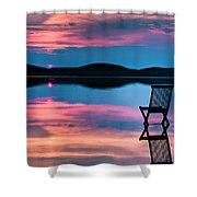 Surreal Sunset Shower Curtain by Gert Lavsen