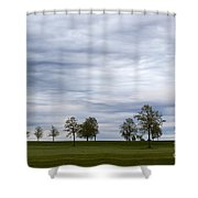 Surreal Trees And Cloudscape Shower Curtain
