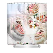 Surrealism Examined Shower Curtain