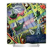 Surrealism Of The Souls Shower Curtain