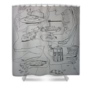 Surrealist Man And Woman Shower Curtain