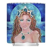 Surrender To The Sea Mermaid Shower Curtain