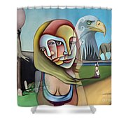 Surrender Your Search Shower Curtain