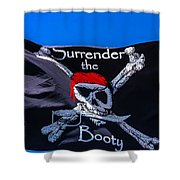 Surrenderthe Booty Flag Shower Curtain