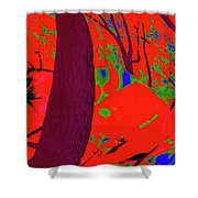 Surrounded 5 Shower Curtain