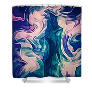 Surrounded By An Aura Of Love Shower Curtain