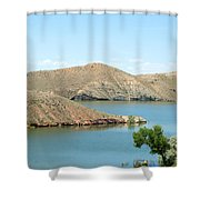 Surrounded By Mountains Shower Curtain
