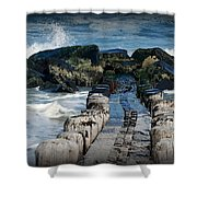 Surrounded By The Ocean - Jersey Shore Shower Curtain