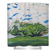 Surrounded With Clouds Shower Curtain